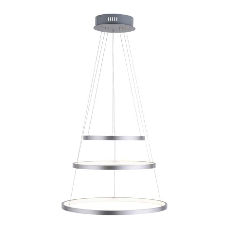 LED Żyrandol ściemnialny na lince CIRCLE 1xLED/15W/230V + LED/20W + LED/25W