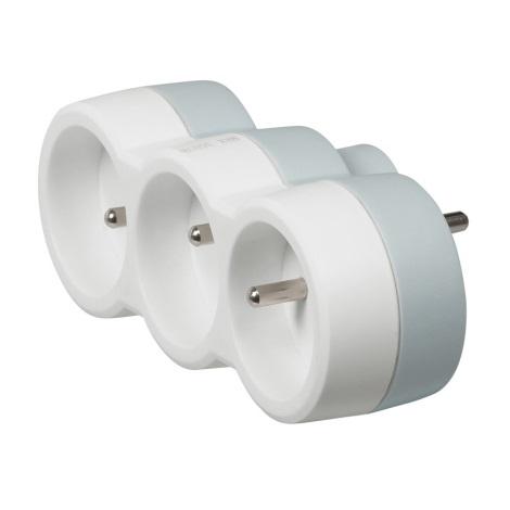Legrand 50639 - Rozgałęźnik 230V/16A 3x2P+T biały