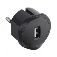 Legrand 50681 - Adapter USB do gniazda 230V/1,5A czarny