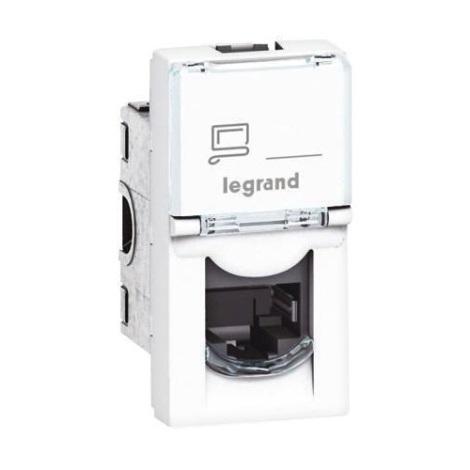 Legrand 76551 - Gniazdo MOSAIC 1xRJ45 class 5E UTP 1M biały