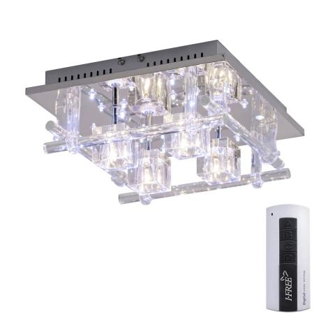 Leuchten Direkt 50356-17 - LED Plafon KEMAL 4xG4/14W/230V/12V+24xLED/0,05W