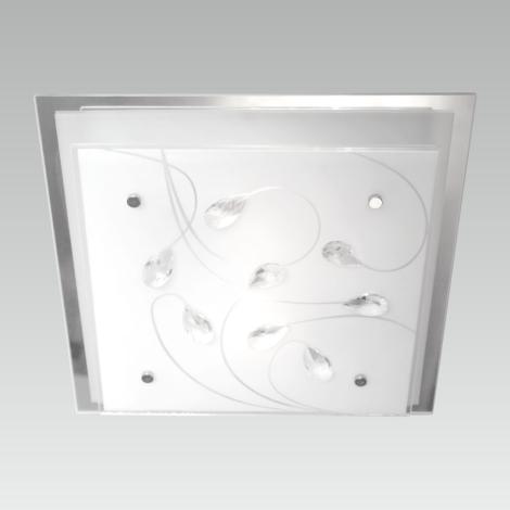 LUXERA 65107 – Plafon IKAROS KRISTAL 3xE27/60W