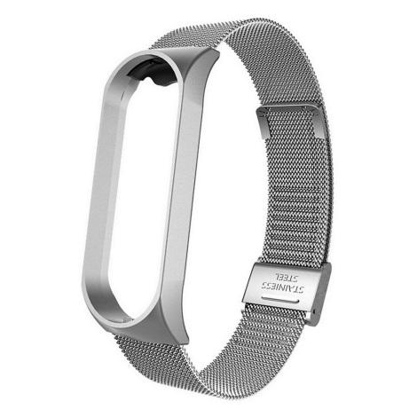 Metalowy pasek do Xiaomi Mi Band 5/6 srebrny