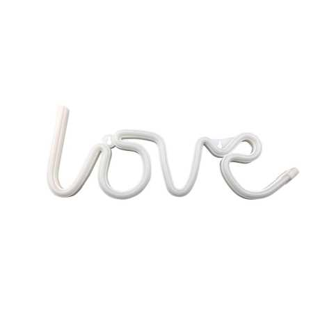 Neonowy dekoracyjny napis LOVE 3xAA