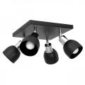 Oświetlenie punktowe FRESNO 4xE27/60W/230V czarny/chrom