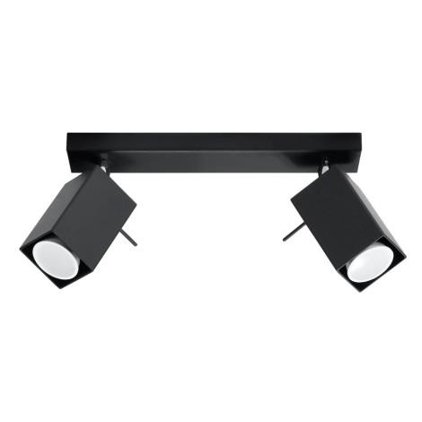Oświetlenie punktowe MERIDA 2 2xGU10/40W/230V czarny