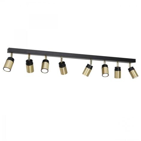 Oświetlenie punktowe NEST 8xGU10/8W/230V czarny/mosiądz