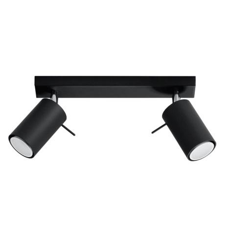Oświetlenie punktowe RING 2 2xGU10/40W/230V czarny