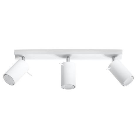 Oświetlenie punktowe RING 3 3xGU10/40W/230V biały