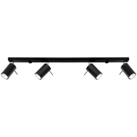 Oświetlenie punktowe RING 4L 4xGU10/40W/230V czarny