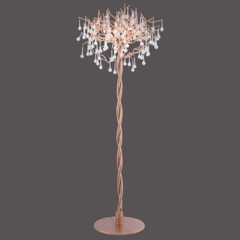 Paul Neuhaus 232-11 - Lampa stołowa ICICLE 5xG9/40W/230V mosiądz