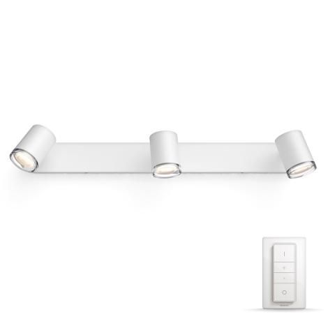 Philips 3436131p7 Led ściemnialne Oświetlenie łazienkowe Hue Adore 3xgu1055w Ip44