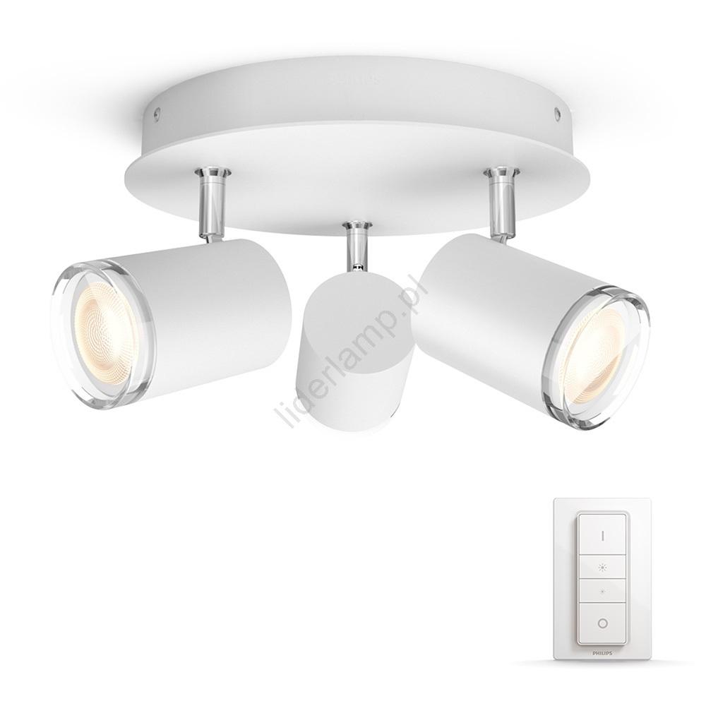 Philips 3436231p7 Led ściemnialne Oświetlenie łazienkowe Hue Adore 3xgu1055w Ip44
