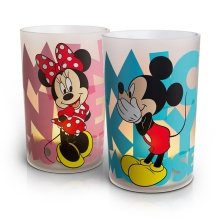 Philips 71712/55/16 - LED Lampa stołowa CANDLES MICKEY & MINNIE MOUSE (zestaw 2szt.) 1xLED/1,5W/230V