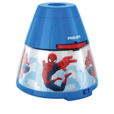 Philips 71769/40/16 - LED Projektor dziecięcy MARVEL SPIDER MAN LED/0,1W/3xAA
