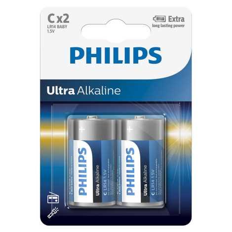 Philips LR14E2B/10 - 2 ks Bateria alkaliczna C ULTRA ALKALINE 1,5V