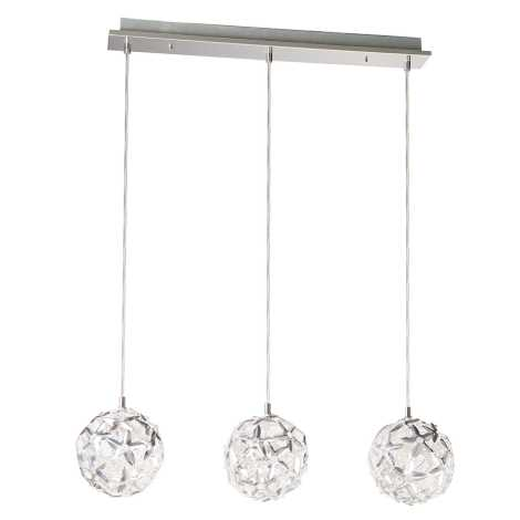 Philips Massive 37965/48/10 - Lampa wisząca MERCIER 3xG4/20W aluminium