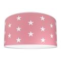Plafon dziecięcy STARS PINK 2xE27/60W/230V różowa