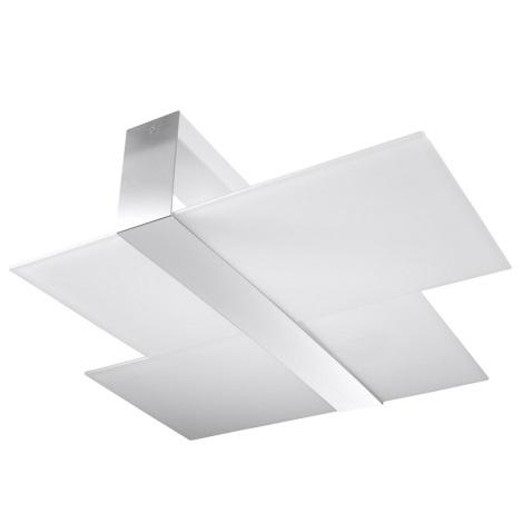 Plafon MASSIMO 2xE27/60W/230V biały/chrom