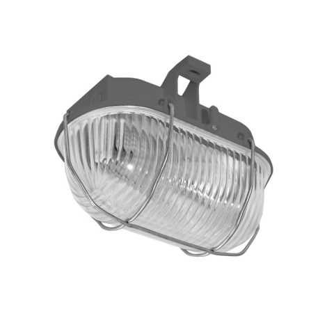 Plafon zewnętrzny OVAL 1xE27/60W/230V szary IP44