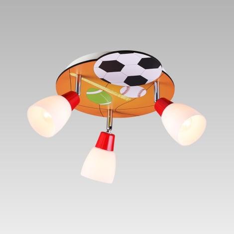 Prezent 28036 - Oświetlenie punktowe dziecięce BALLIN 3xE14/40W/230V