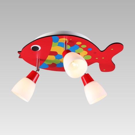 Prezent 28037 - Oświetlenie punktowe dziecięce KARP 3xE14/40W/230V