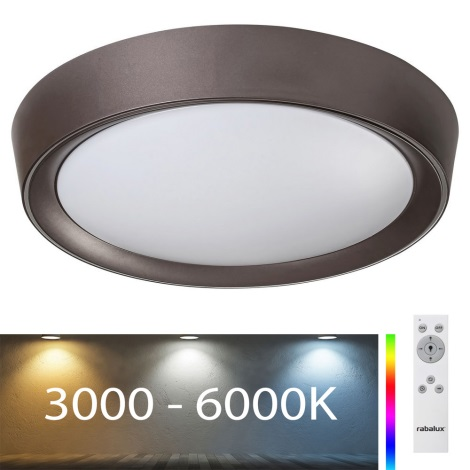 Rabalux - LED RGB Ściemniana lampa sufitowa LED/24W/230V + pilot 3000-6000K