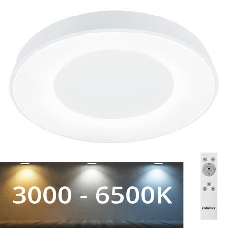 Rabalux - LED Ściemniana lampa sufitowa LED/38W/230V white + pilot 3000-6500K