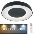 Rabalux - LED Ściemniane oświetlenie sufitowe LED/38W/230V black + pilot 3000-6500K