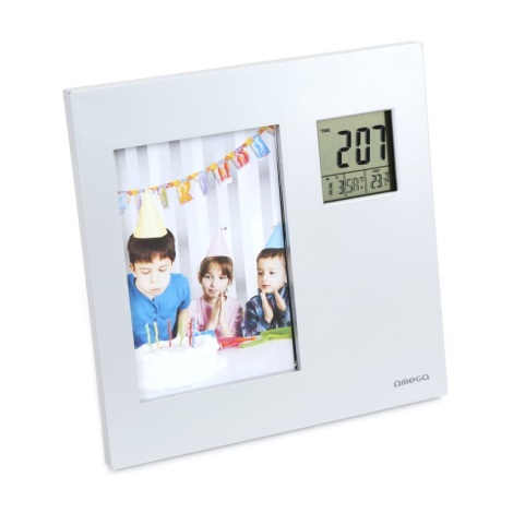 Ramka na zdjęcia z zegarem cyfrowym i termometrem 2 × AAA