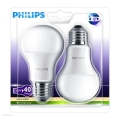 SET 2x LED żarówka Philips E27/6W/230V