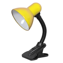 Top Light - Lampa z klipsem 1xE27/60W/230V żółta