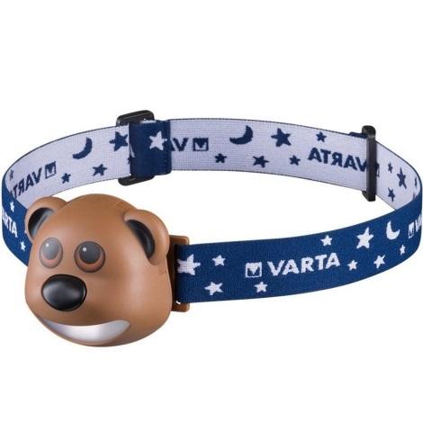 Varta 17500 - LED Czołówka dziecięca BEAR LED/3xAAA
