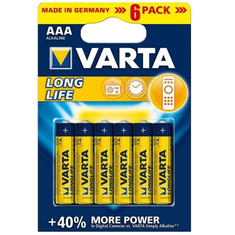Varta 4103 - 6 szt. Baterie alkaliczne LONGLIFE EXTRA AAA 1,5V