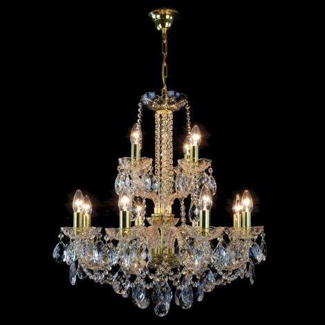 Wranovsky JWZ125122230 - Żyrandol kryształowy na łańcuchu MARIERA 12xE14/40W/230V