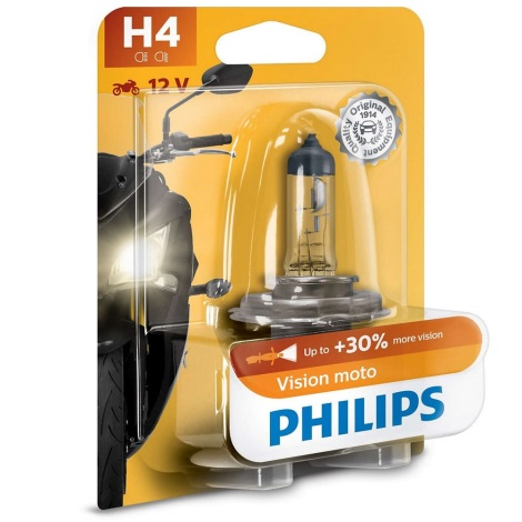 Żarówka motocyklowa Philips VISION MOTO 12342PRBW H4 P43t-38/60/55W/12V