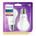 ZESTAW 2x LED Żarówka Philips E27/8W/230V