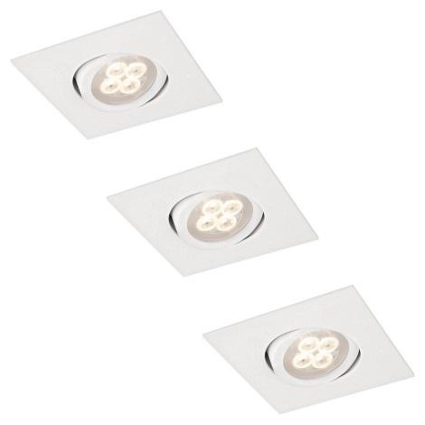 ZESTAW 3x LED Oprawa wpuszczana 3xLED/3W/230V