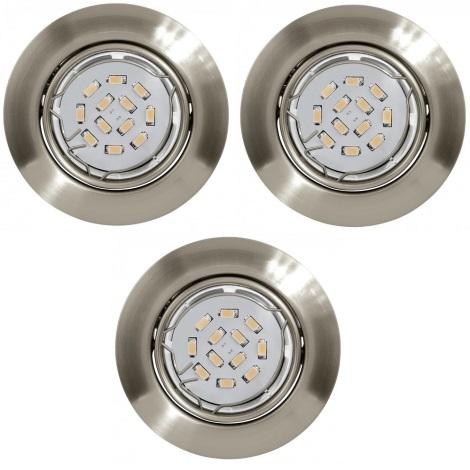 ZESTAW 3x LED Oprawa wpuszczana PENETO 3xGU10/5W/230V - Eglo 78226