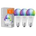 ZESTAW 3x LED RGBW Żarówka ściemnialna SMART+ E27/9,5W/230V 2700K-6500K Wi-Fi - Ledvance