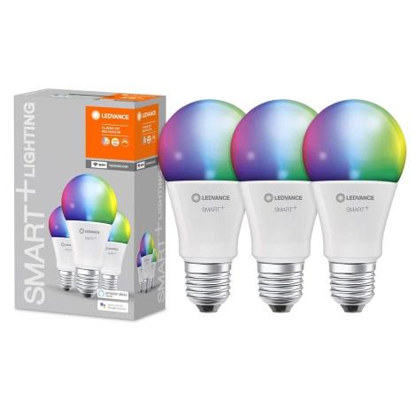 ZESTAW 3x LED RGBW Żarówka ściemnialna SMART+ E27/9W/230V 2700K-6500K Wi-Fi - Ledvance