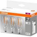 ZESTAW 3x LED Żarówka BASE VINTAGE E27/6W/230V 4000K – Osram