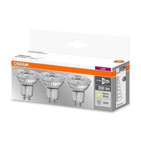 ZESTAW 3x LED Żarówka PAR16 GU10/4,3W/230V 2700K - Osram