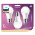 ZESTAW 3x LED Żarówka Philips A60 E27/8,5W/230V