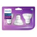 ZESTAW 3x LED Żarówka Philips GU10/3,5W/230V 2700K