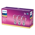 ZESTAW 3x LED Żarówka VINTAGE Philips E27/4,3W/230V 2700K