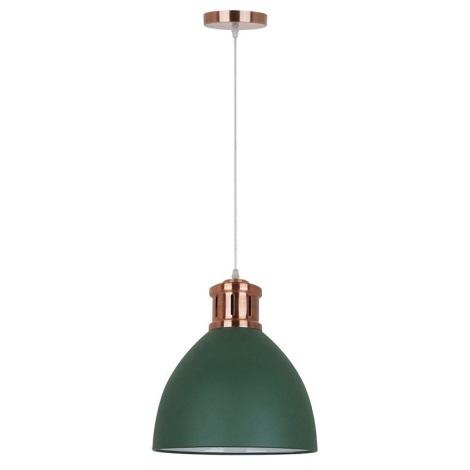 Żyrandol 1xE27/10W/230V zielony 30cm