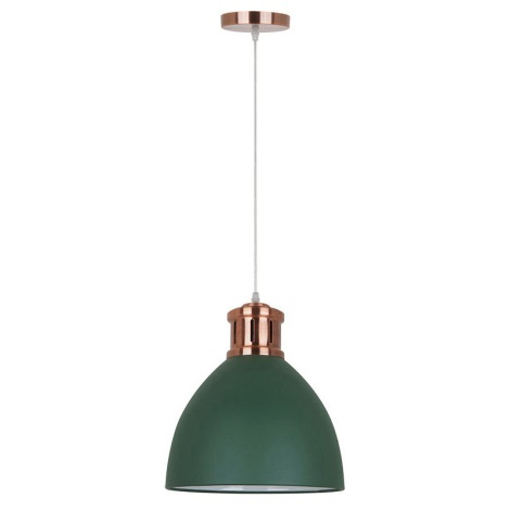 Żyrandol 1xE27/60W/230V zielony 30cm
