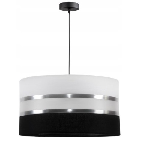 Żyrandol na lince CORAL 1xE27/60W/230V czarno-biały