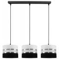 Żyrandol na lince CORAL 3xE27/60W/230V czarno-biały